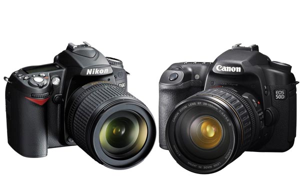 NikonD90 and Canon 50D